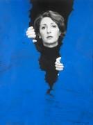 Helena Almeida, Pintura habitada [Peinture habitée], 1976,  Photographie noir et blanc, acrylique, 40 x 30 cm, Coll. Fernando d'AlmeidaPhoto Filipe Braga © Fundação de Serralves, Porto